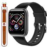 Fullmosa Smartwatch, Orologio Fitness Tracker intelligente,Smart Watch Uomo Donna, Cardiofrequenzimetro da polso Contapassi per iOS Android, Impermeabile IP68 Sportivo Activity Tracker (SW-011)