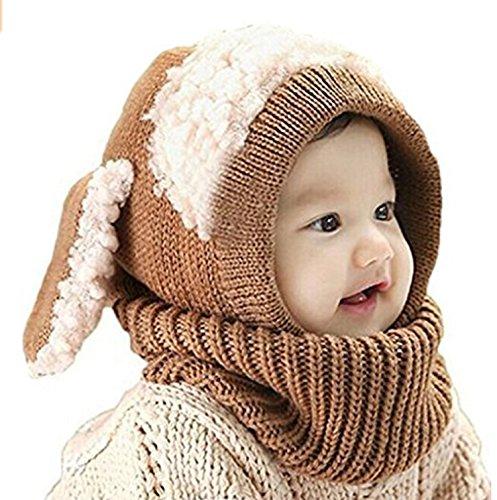 ZZLAY Lovely Baby Winter Hat Bufanda Earflap Hood Bufandas Skull Caps Warm Knit Face Cover Balaclava