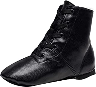 Huicai Unisex-Adult and Kids High-Top Leather Jazz Dance Practice Shoes