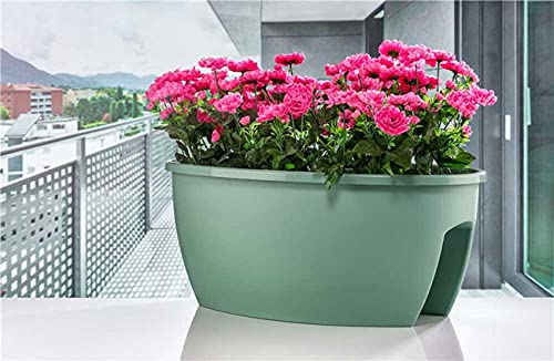 Jardinera para Barandilla hasta 10 cm ancho, 59x36x25 cm, Jardinera Balcón 22,5...