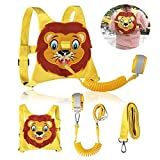 Toddlers Leash + Anti Lost Wrist Link Child Kids Safety Harness Kids Walking Wristband Assistant Strap Belt for Boys Pink Christmas Gift (Yellow)