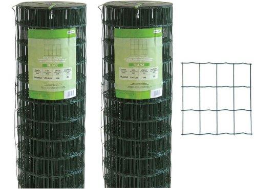 Rete recinzione elettrosaldata plastificata release h 180 cm rotolo da 25 mt.