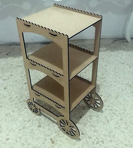 Kit para hacer carrito de DM para candy bar mesa dulce. Manualidades con madera. Medidas: 60 cm de alto