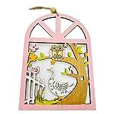 MOBFIDOFG Pasqua decorazion 2 Pezzi Coniglio in Legno Coniglio Uova Fiore Appeso Pendente Ornamenti Decorazioni di Pasqua Porta Fai da Te Arredamento per Feste a Domicilio (Color : 2)