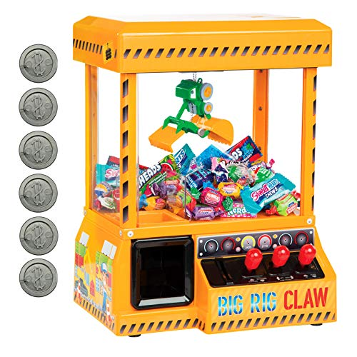 Bundaloo Big Rig Claw Machine Arcade Game - Miniature Candy Grabber for Kids - Electronic Prize Mini Toys Dispenser Playset with Sound - Cool & Fun Battery-Operated Party Game Surprise for Children
