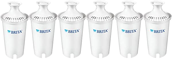 Brita 35557 Water Pitcher Replacement Filters White 6 Pk 6ct 6ct