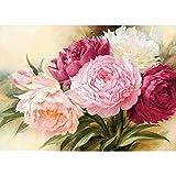 Pintura Al óleo Pintada Flower Lienzo De Dibujo para Adultos Cuadros De Lienzo Impresiones De Pintura De Arte Acrílico por Números Pintura De Números para Sala De Estar Grande Set De Pintura