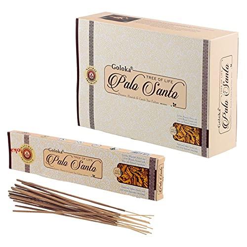 Goloka Palo Santo 15G 15 Varillas/Paquete, 12 Paquetes/Caja Precio es para la Caja