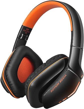 goupgolboll-KOTION EACH B3506 Bluetoothノイズキャンセリングヘッドフォン音量調節ソングスイッチ(ブラックレッド、ブラックブルー、ブラックオレンジ、ホワイトブルー)