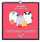 Quo Vadis – 238225Q – 1 Monatskalender Kawai + 200 Aufkleber – September 2020 bis August 2021-30 x 30 cm