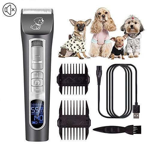 Professionele tondeuse voor honden, elektrisch, geringe geluidsontwikkeling, oplaadbaar, zonder snoer, voor lang haar voor honden en katten