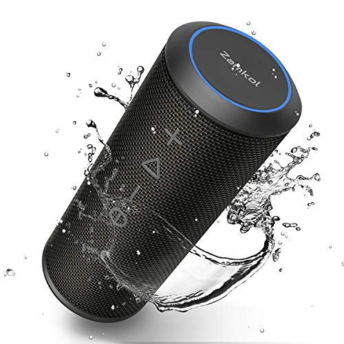 Black Portable,Waterproof,Wireless Speakers,Dual Pairing Bluetooth 5.0,Loud Stereo,Booming Bass,1500 Mins Playtime for Home,Party,Camping Bluetooth Speakers,MusiBaby Speaker,Outdoor