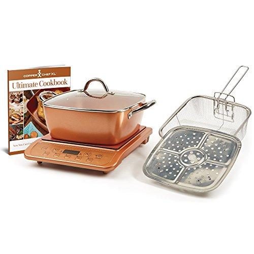 Copper Chef 853 Casserole & Induction 5 pc Set & Induction Cooktop, 5 Piece, Casserole 5pc Set...