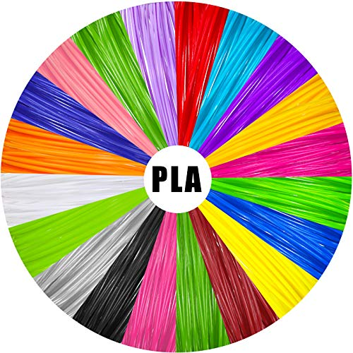 328 Feet 3D Pen PLA Filament, 1.75 mm Diameter 3D Printer Filament, 20 Colors, 16.4 Feet Each Color