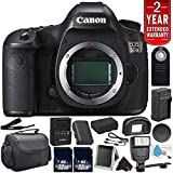 Canon EOS 5DS Digital SLR Camera 0581C002 (Body Only)- Bundle with 32GB Memory Card + Spare Battery + Digital Slave Flash + More (International Version) with 2 Year Seller Warranty