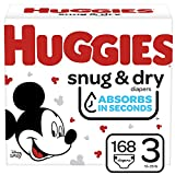 Huggies Snug & Dry Baby Diapers, Size 3, 168 Ct