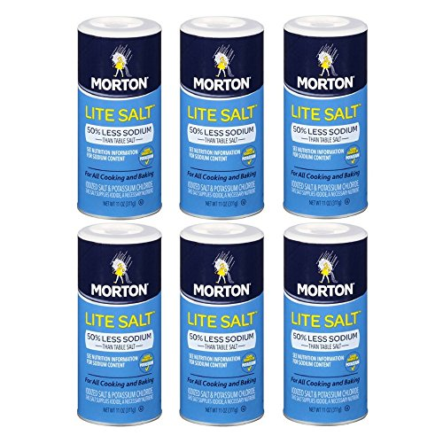 Morton, Lite Salt With Half The Sodium Of Table Salt, 11 oz