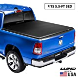 Lund Genesis Elite Tri-Fold, Soft Folding Truck Bed Tonneau Cover   95872   Fits 2009 - 2014 Ford F-150 5' 7' Bed (67')