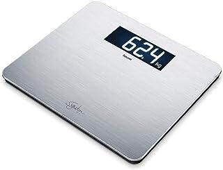 Beurer GS405 Blanca Báscula Digital De Vidrio, 200Kg /100 g, Superficie Antihuellas, Vidrio Seguridad 8Mm, Pantalla Lcd Retroiluminada Grandes Dígitos 4.9 cm, Apagado Automático