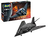 Revell-F-117 Stealth Fighter Maqueta Avión de Guerra, 10+ Años, Color Negro (03899)