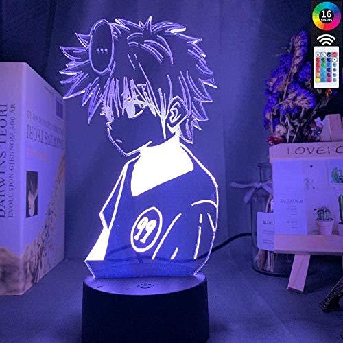 3DイリュージョンランプLEDナイトライトアニメハンターXハンターキルアゾルディック色を変えるUSBバッテリーテーブルランプギフト子供用