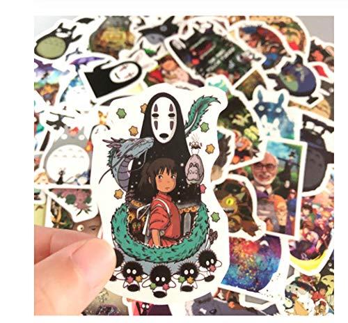 My burn Totoro, 50 stuks Japanse films, schattige schrijfwaren stickers voor auto, laptop, bagage, stickers, koelkasten, skateboard
