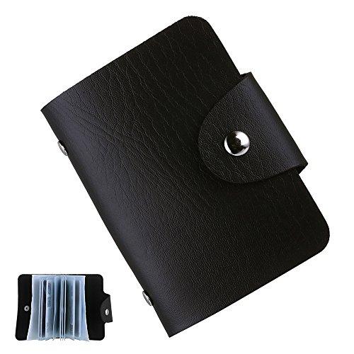 Karten Tasche für Personalausweis, Bankkarte Kreditkarte EC-Karte u.a. Wireless Identity Theft (Schwarz)