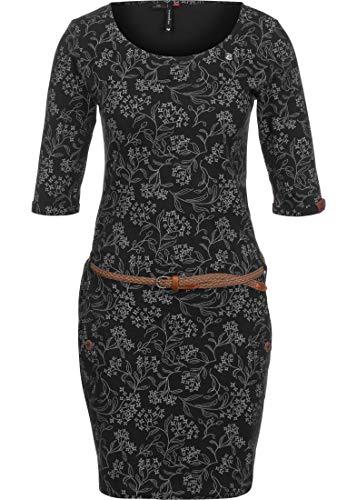 Ragwear Damen Kleid Tanya Flowers schwarz - M