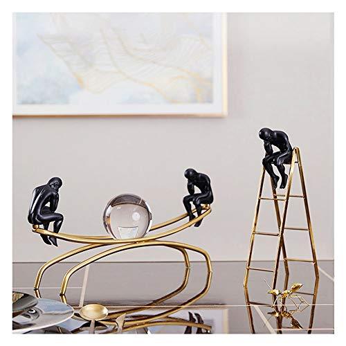 ZFF Estudio de estilo europeo decoración creativa del metal Modelo de decoración de interior Oficina libro de escritorio moderno minimalista Muebles for el hogar