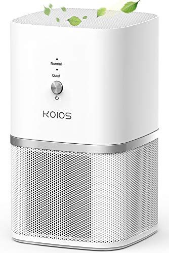 KOIOS Air Purifier, Small Air Purifiers with True HEPA Filter, Air Cleaner Bedroom Home Kitchen Office, Remove Smoke Dust Pollen Pet Dander, Protable Odor Eliminator, 219ft², No Ozone