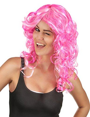 DEGUISE TOI - Perruque bouclée Rose Femme - Taille Unique