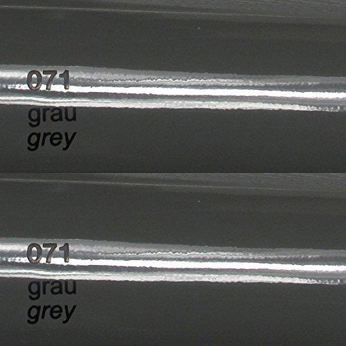 8,25€/m² Oracal 751c - 071 Grau - Glanz Klebefolie - 5m x 63cm - Folie - Moebelfolie - Plotterfolie - Selbstklebend - gegossen - cast