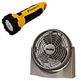 Toucan City LED Flashlight and Air King 9 in. High Performance Pivot Fan 9530