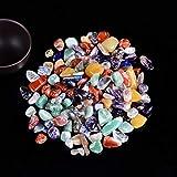 50 g / 100 g Cristal Natural Espécimen de Grava Rose Cuarzo Amatista Decoración para el hogar Colorido para Acuario Curación Energía Energía Minalería (Color : Colour Crystal, Size : 50g)