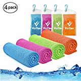 Cooling Towel,Vofler Cool Towels Pack Set Microfiber Chilly Ice Cold Head Band Bandana Neck Wrap (40'x 12') for Athlete Men Women Youth Kids Dogs Yoga Outdoor Golf Running Hiking Sports Camping Travel