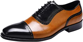 Color-block British Fashion Business Leather Shoes, Heightening, Shock Absorption, Breathable, Wear-resistant, Non-slip