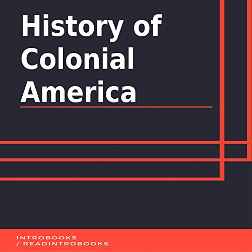 History of Colonial America audiobook cover art
