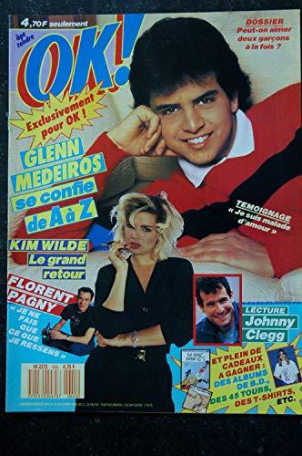 OK ! âge tendre 645 1988 05 Glen MEDEIROS Kim WILDE Florent PAGNY Johnny CLEGG Sophie MARCEAU