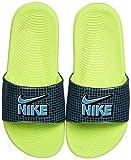 Nike Kawa Slide SE1 (GS/PS), Sandal, Black/Aquamarine-Cyber-Black, 35 EU