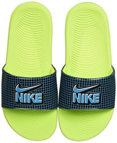 Nike Kawa SE1 Slide Sandal, Black/Aquamarine-Cyber-Black, 28 EU