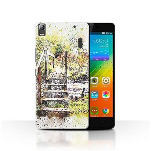 Stuff4 Phone Case for Lenovo A7000 Autumn Fashion Small Bridge/Forest Transparent Clear Ultra Slim Thin Hard Back Cover