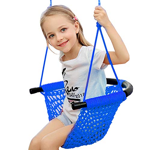 Arkmiido Kids Swing, Swing Seat for Kids with Adjustable Ropes, Hand-kitting Rope...