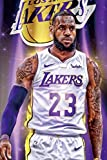 Lebron James Canvas Wall Art,LA Lakers Poster Wall Art Print,Star Forever Legend Picture Artwork for Home Decor,Lebron Canvas Wall Poster Print for Men Boys Bedroom Decor ,Unframed.(16'x 24')