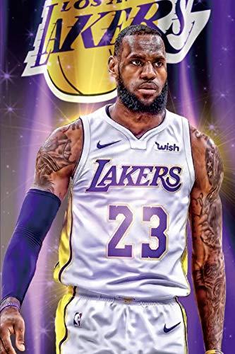 Lebron James Canvas Wall Art,LA Lakers Poster Wall Art Print,Star...
