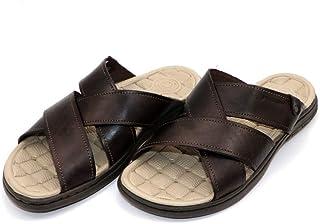 PEGADA Brown Elegant Designs Slipper for Men