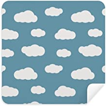 DIYthinker White Cloud Blue Sky Weather Glasses Cleaning Cloth Phone Screen Cleaner Suede Fabric 2Pcs