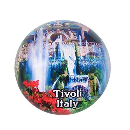 Villa d'Este Tivoli Italien Kühlschrankmagnet 3D Kristallglas Tourist Stadt Reise Souvenir Sammlung Geschenk Starke Kühlschrank Aufkleber