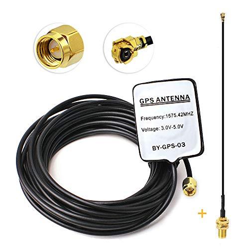 Eightwood Aktive GPS Antenne +SMA Buchse U.FL 20cm Pigtail für Boss Jensen Navigation GPS NEO-6M Empfängermodul MEHRWEG