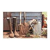 HOMESCAPES Bedruckte, rutschfeste Fußmatte, Gartenhaus, recycelter Gummi, 75cm x 45cm
