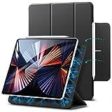 ESR Hülle kompatibel mit iPad Pro 12.9 2021/2020 (5/4.Generation), praktischer Magnetverschluss [Unterstützt Apple Pencil Koppeln und Laden] Auto Schlaf-/Weckfunktion - Schwarz